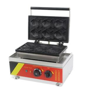 Fish Waffle Maker 110V Kitchen Cooking Cake Food Commercial Equipment 220422