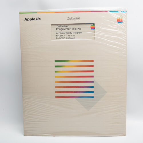 Vintage Apple Computer Software 1982 Disk Imagewriter Tool KIt Sealed