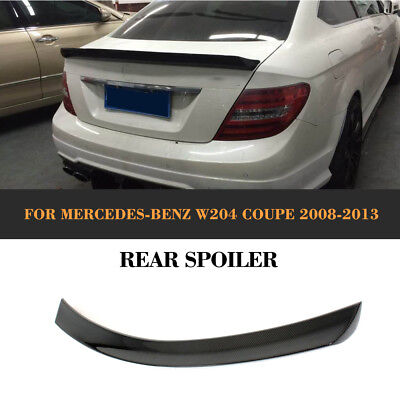 Carbon Fiber Rear Spoiler Trunk Wing For Mercedes Benz C-Class W204 C250 Coupe