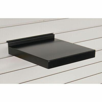 12w Metal Slatwall Shelf Black