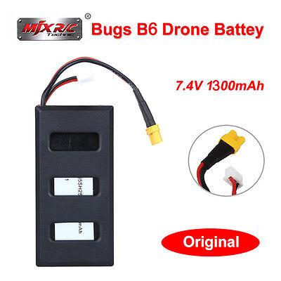 Original 100% MJX Bugs 6 B6 Drohne 7,4V 1300mAh 25C Batterie Akku Hohe Kapazität