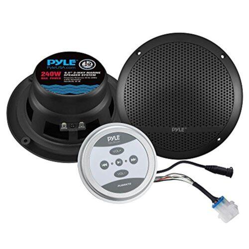 Pyle Bluetooth Marine Grade Flush Mount 2-Way Speaker System