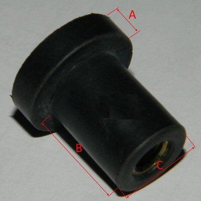 5 Stück Blindnietmutter M6 Gummimutter f. Verkleidung Cagiva Neoprenmutter