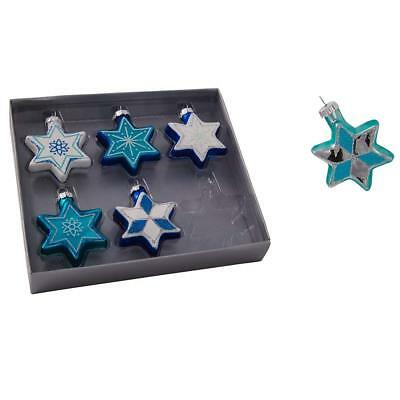 6pc Set Jewish Star of David Hanukkah Ornaments - Hanukkah Ornaments