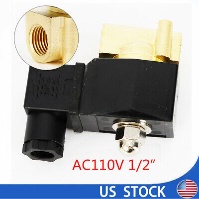 12 Brass Electric Solenoid Valve For Gas Water Air Oilnptcopper Wireac110v