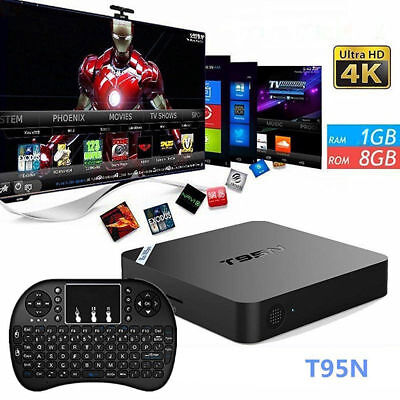 Pro 4K S905 Smart TV Box 64-bit Android 6.0 / 1G+8GB DDR4 HD 4K 3D w/ Keyboard