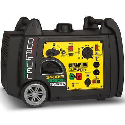 Champion 100263 - 3100 Watt Dual Fuel Inverter Generator W Rv Outlet