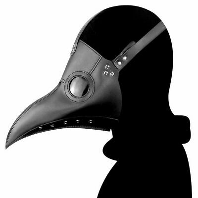 Plague Doctor PU Mask Long Nose Beak Bird Crow Cosplay Steampunk Halloween Props