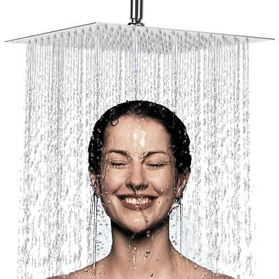 Rainfall Showerhead Finish - 16 Inch Large Square Rain Showerhead Polish Chrome Finish Rainfall Shower Head