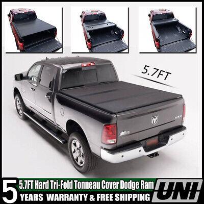Truck Bed Cover Lock Fit Dodge Ram 1500 2500 09-2019 Hard Tri Fold Tonneau 5.7'
