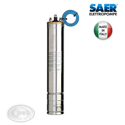 Engine Submerged 4'' SAER 3 HP Monophase For Pumps Electric Wells