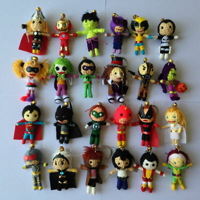 Superhero & Villain Voodoo String Doll action figure keyring keychain charm - Villain Superhero
