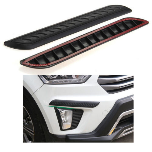 2pcs Car Black Rubber Bumper Corner Guard Scratch Sticker Protector For Toyota