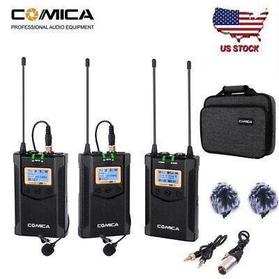 COMICA CVM-WM100 Plus Dual Lavalier Wireless Microphone System for DSLR Camera