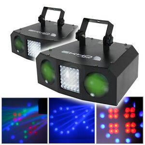 2x Ekho Uranus LED Double Moon Strobe Light DJ Disco Party Club Lighting Effect