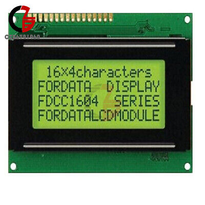 5v 1604 Lcd 16x4 Character Lcd Display Module Lcm Yellow Blacklight For Arduino