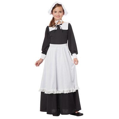 Girls Pilgrim Colonial Halloween Costume