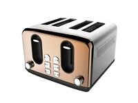 NEW Wilko 4 Slice Toaster Copper Effect JUST £19.99