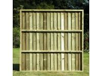 Feather edge fence panels (x5)