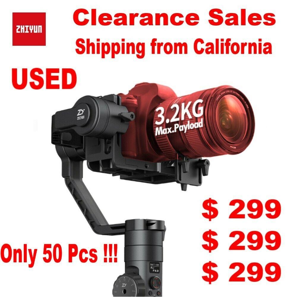Used Zhiyun Crane 2 3-Axis Gimbal Stabilizer (No Follow Focus) for DSLR Camera