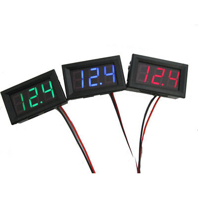 New Mini Dc 2.5-30v Voltmeter Led Panel 3-digital Display Voltage Meter 2 Wires