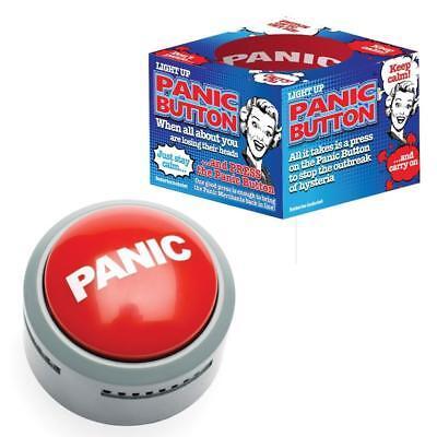 Panic Button Relieve The Stress fun Joke Prank Office Desktop Buzzer Alarm