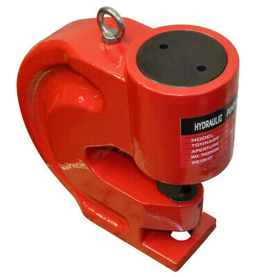 """Hydraulic Busbar Hole Puncher 50 Ton Knockout Punch Set with 5/8"""" - 1"""" Dies"""
