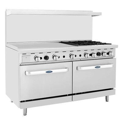 Atosa Ato-36g4b Cookrite 60 4 Burner Gas Range W Oven