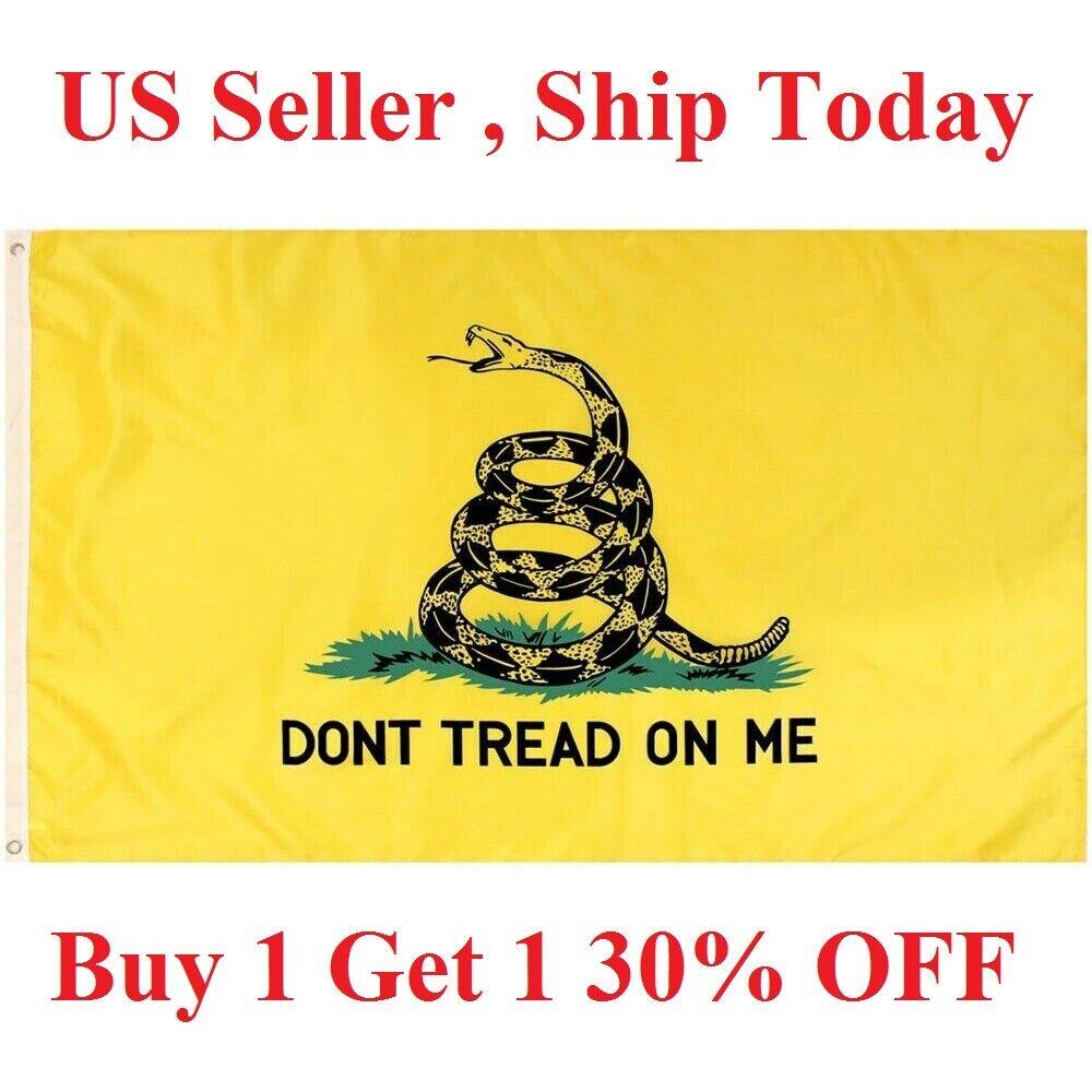 G128 - 3x5ft Dont Tread on Me Gadsden Flag Gadsden Tea Party
