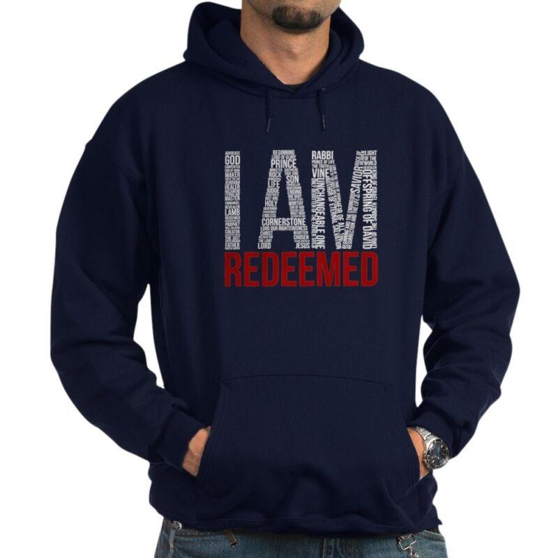 CafePress - I Am Redeemed - Black/Red Hoodie - Pullover Hoodie