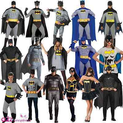 Batman Deluxe Classic Dark Knight DC Comic Adult Mens Ladies Fancy Dress Costume