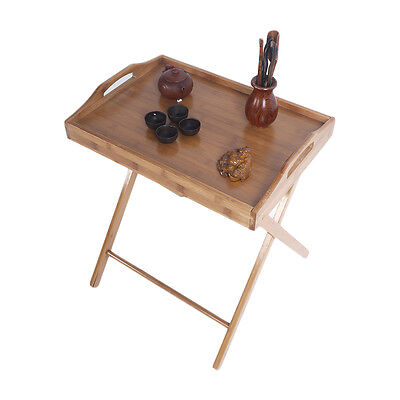 Folding TV Tray Table Stand Dinner Coffee Kitchen Wood Furniture Serve Snack Tea