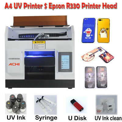 A4 Uv Printer 6 Color For Phone Case Glass Metal Wood Pcb Signs 3d Embossed Ink