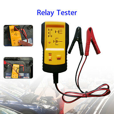Portable Led 12v Automotive Relay Tester Car Battery Quick Test Fixing Tools