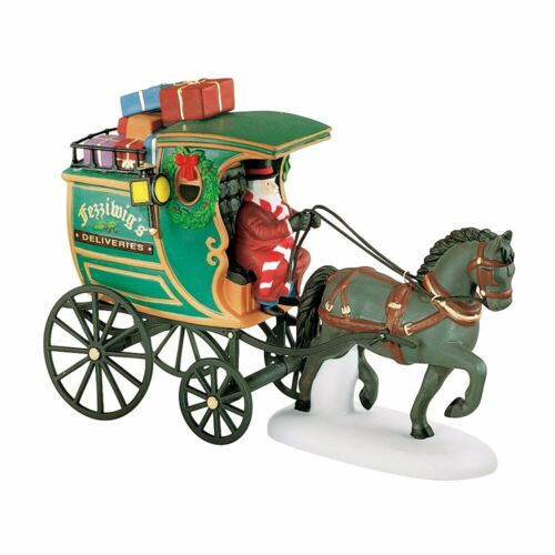 Dept 56 Dickens Village ~ The Fezziwig Delivery Wagon ~ Mint In Box 58400