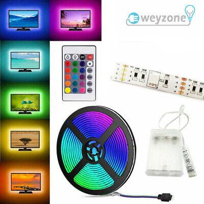 5V USB 5M LED Strip Lights TV Backlight 5050 RGB Colour Changing +Remote Control