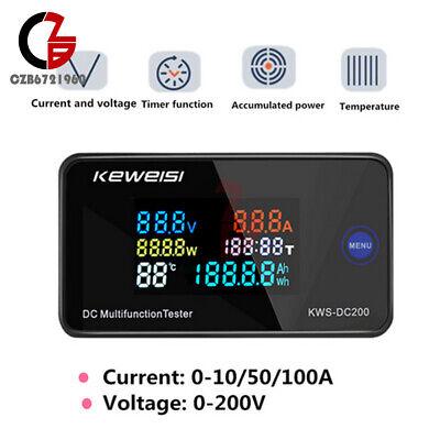 Led Voltage Current Temperature Digital Meter Dc0-200v Built-in Shunt 1050100a