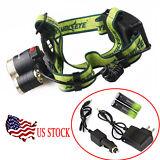 20000lm CREE XM-L 3xT6 LED Headlight Headlamp 18650 Torch Flashlight/Charger USA