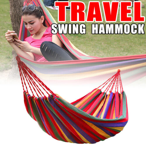 Durable Cotton Hammock  Beach Camping Swing Bed Chair Travel