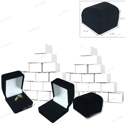 25pc Ring Gift Boxes Black Ring Gift Boxes Wholesale Jewelry Boxes Velvet Boxes