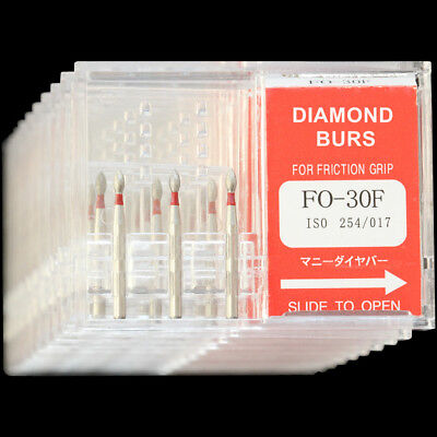 10 Boxes Fo-30f Mani Dia-burs Fg 1.6mm Dental High Speed Handpiece Diamond Bur