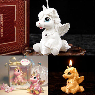 - Unicorn Kids Birthday Candle Party Cake Cute Toy Decoration Romantic Bougie Gift