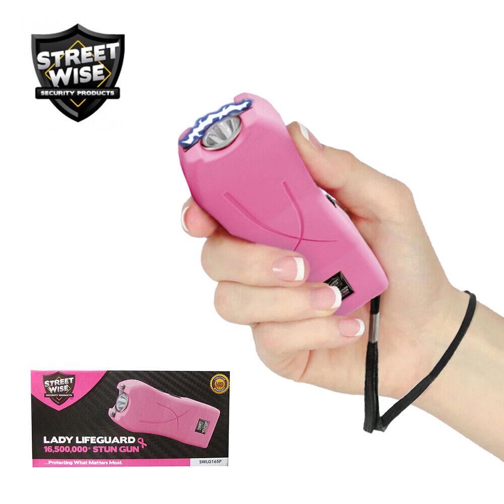 Streetwise LIFE GUARD Stun Gun Flashlight 16,500,000 Volt Holster Palm Size PINK - $15.88