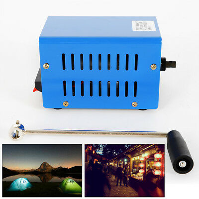 20w High Power Dynamo Charger Emergency Hand Crank Usb Generator Us Ship
