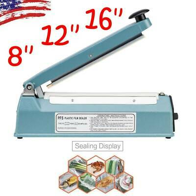 8 12 16 Hand Impulse Heat Sealing Sealer Machine Poly Element Plastic Sealer