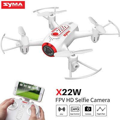 Mini RC Drone Quadcopter With HD Camera Wifi FPV Syma X22W 2.4G 4CH 6-Axis Gyro