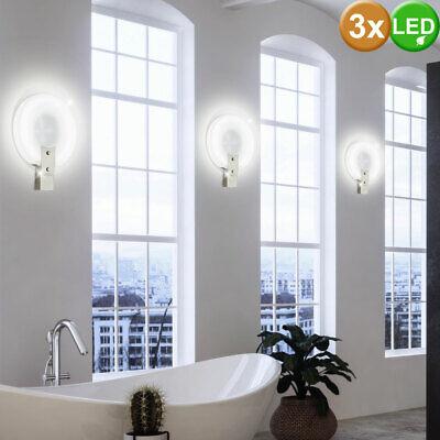 3er Set Diseño Cristal Pared Luces Treppen-Haus Iluminación Cuadro Espejo