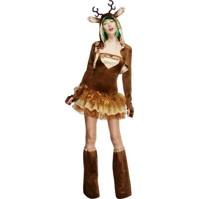 Smi - Fever Damen Kostüm Rentier Karneval Fasching Weihnachten ()