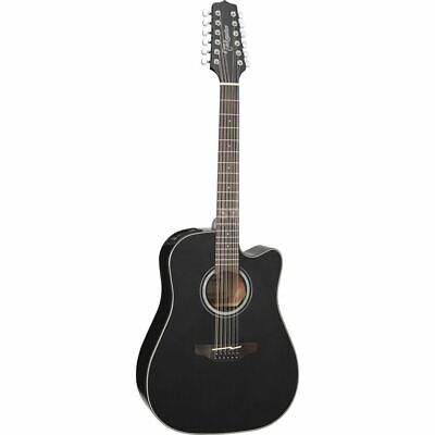 Takamine GD30CE-12 Dreadnought Cutaway 12-String Acoustic-Electric Guitar Black