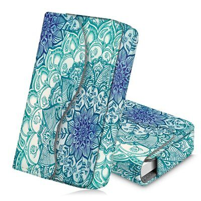 Business Card Holder Name Card Wallet Case Magnetic Closure- Emerald Illusions